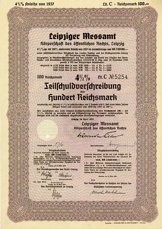Leipziger Messamt, Körperschaft des öffentlichen Rechts