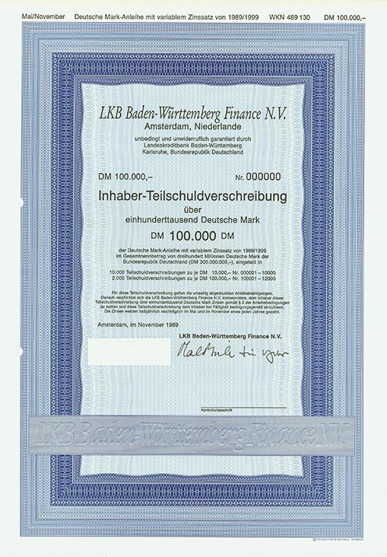LKB Baden-Württemberg Finance N.V.