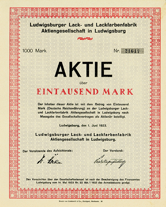Ludwigsburger Lack- und Lackfarbenfabrik AG