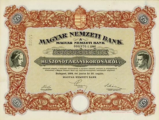 Magyar Nemzeti Bank (Ungarische Nationalbank)