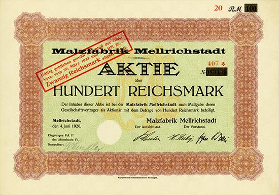 Malzfabrik Mellrichstadt