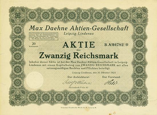 Max Daehne AG