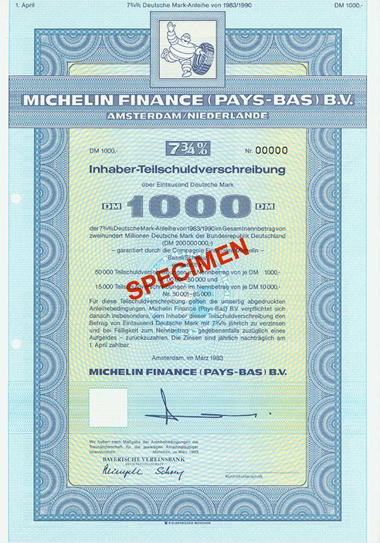 Michelin Finance (Pays-Bas) B.V.
