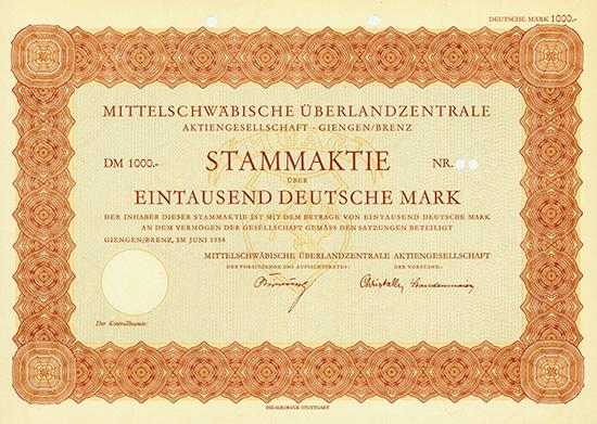 Mittelschwäbische Überlandzentrale AG