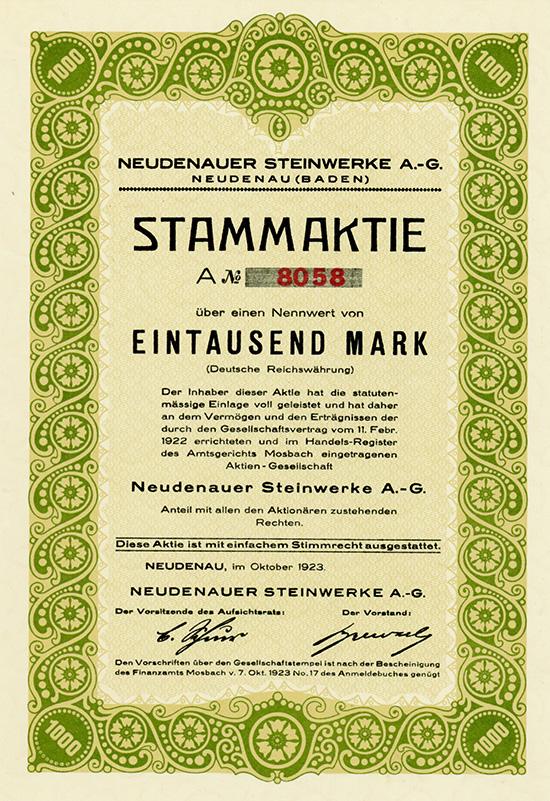 Neudenauer Steinwerke AG