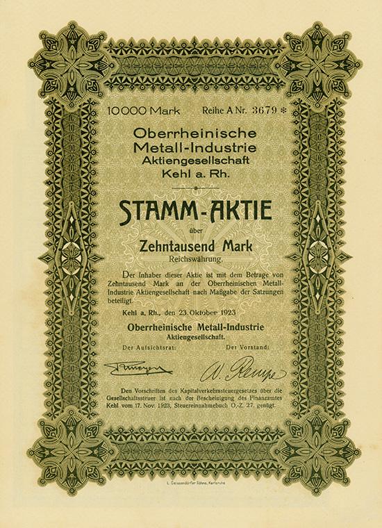 Oberrheinische Metall-Industrie AG