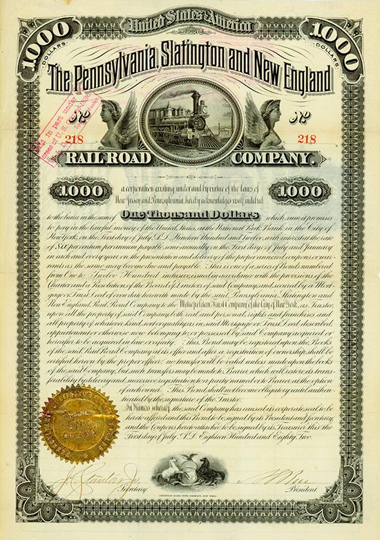 Pennsylvania, Slatington and New England Railroad Company