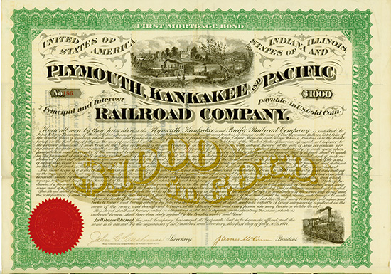 Plymouth kankakee pacific railroad company scriposale for Bureau junction il