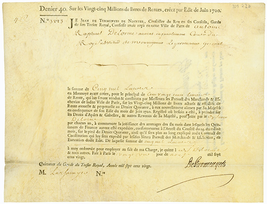 Rente Viagere - Edit de Juin 1720