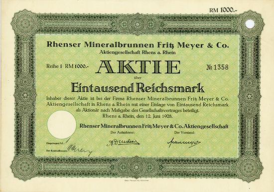 Rhenser Mineralbrunnen Fritz Meyer & Co. AG