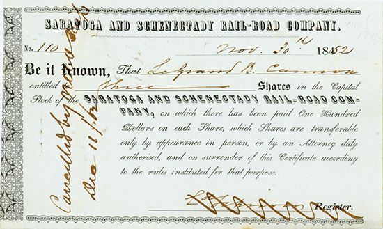 Saratoga and Schenectady Rail-Road Company