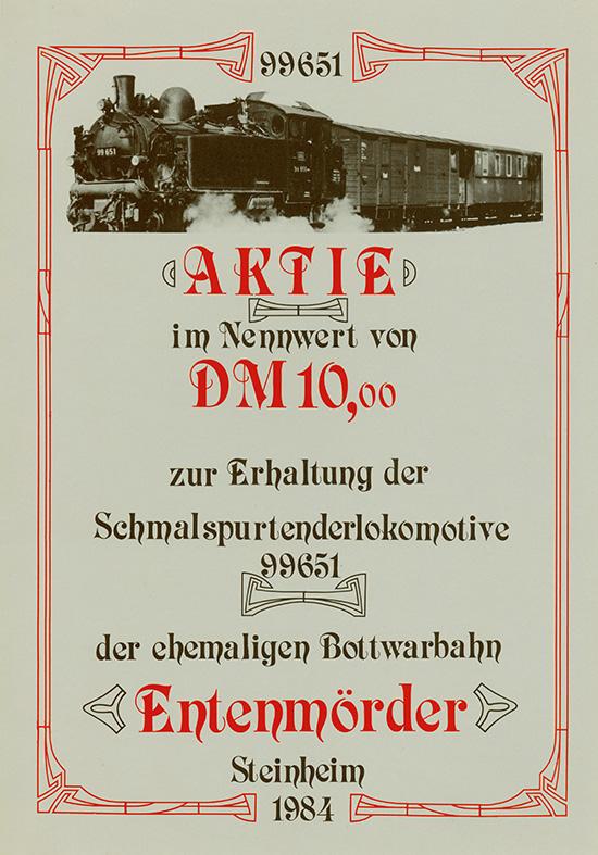 Schmalspurtenderlokomotive Entenmörder