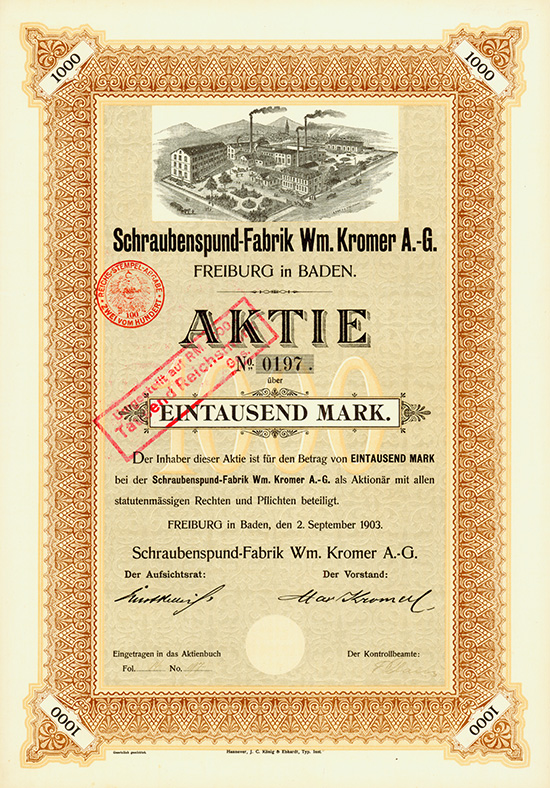Schraubenspund-Fabrik Wm. Kromer AG