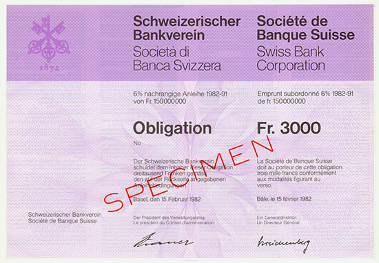 Schweizerischer Bankverein / Societe de Banque Suisse