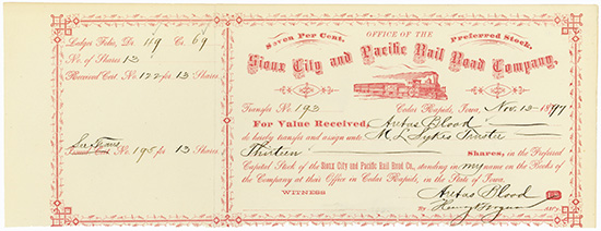 Sioux City and Pacific Rail Road Company