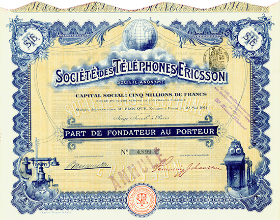 Societe des Telephones Ericsson S.A.