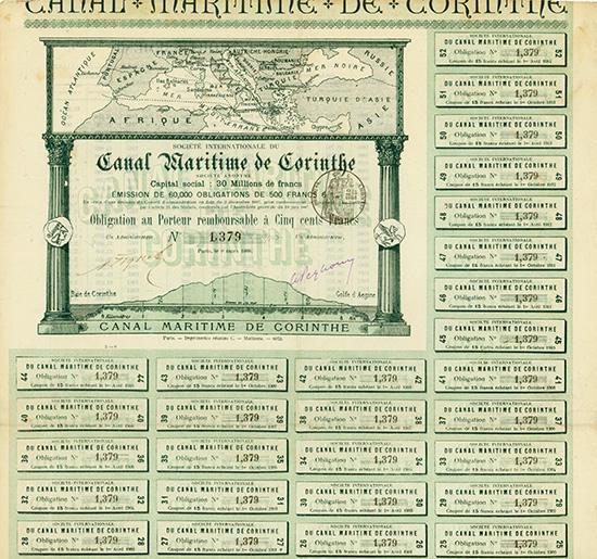 Societe Internationale de Canal Maritime de Corinthe