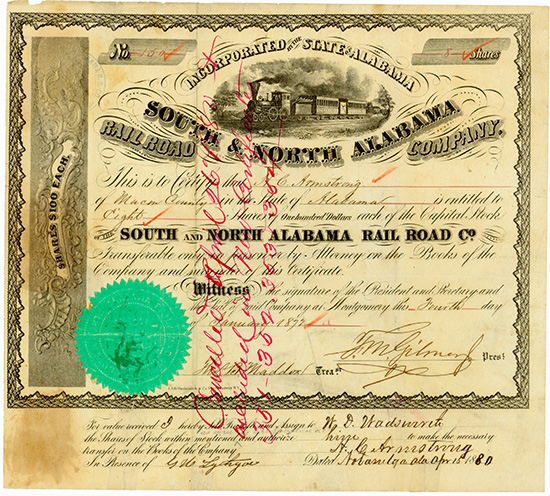 South & North Alabama Rail Road Company
