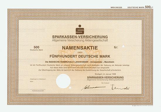 Sparkassen-Versicherung Allgemeine Versicherung AG