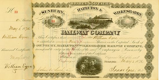 Sunbury, Hazleton & Wilkesbarre Railway Company