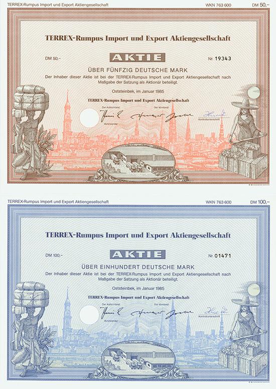 TERREX-Rumpus Import und Export AG [2 Stück]