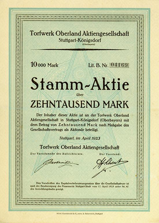 Torfwerk Oberland AG
