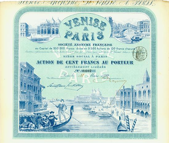Venise a Paris Societe Anonyme Francaise
