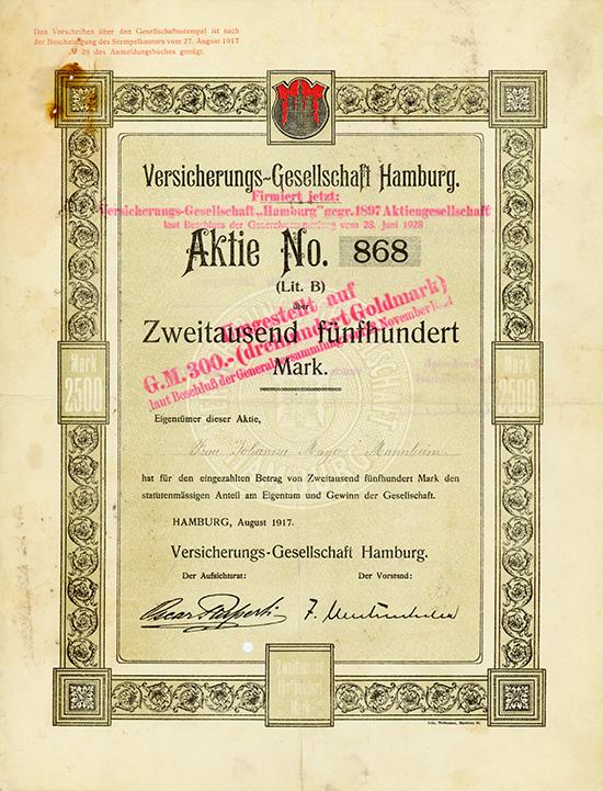 Versicherungs-Gesellschaft Hamburg