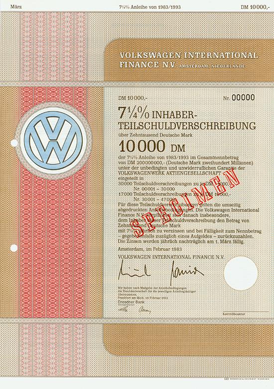 Volkswagen International Finance N.V.