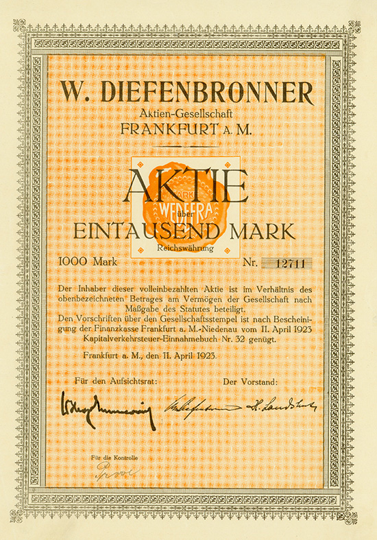 W. Diefenbronner AG