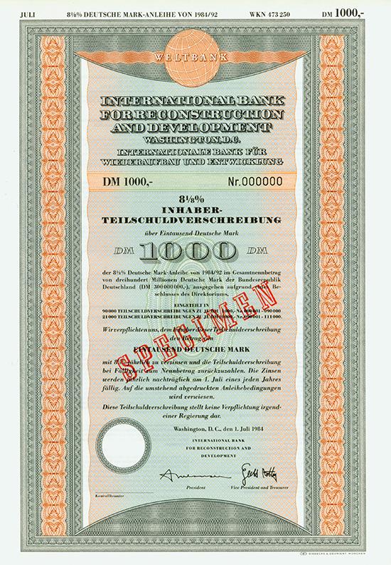 Weltbank / International Bank for Reconstruction and Development