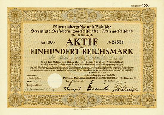 Württembergische und Badische Vereinigte Versicherungsgesellschaften AG