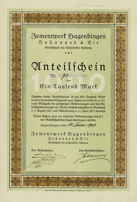 Zementwerk Hagendingen Johannes & Cie. GmbH