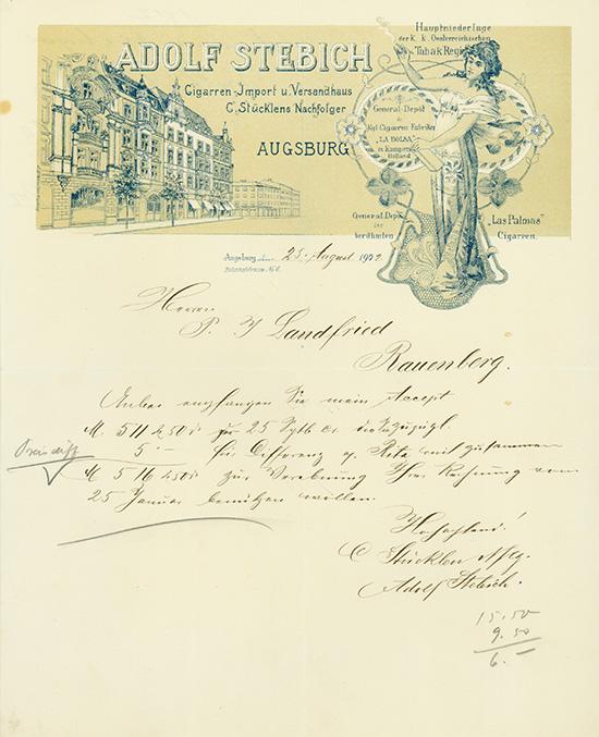 Adolf Stebich, Cigarren-Import u. Versandhaus C. Stücklens Nachfolger
