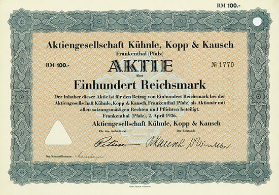 AG Kühnle, Kopp & Kausch