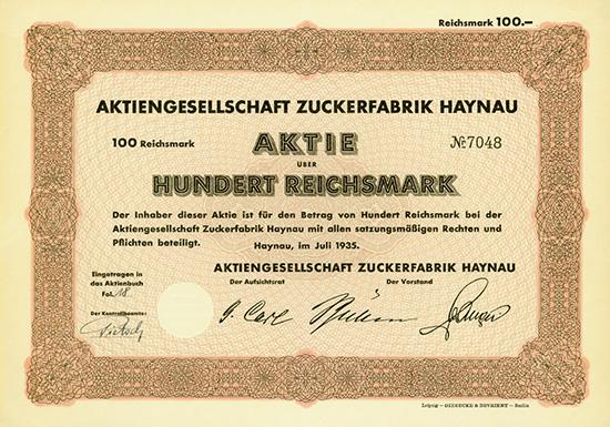 AG Zuckerfabrik Haynau