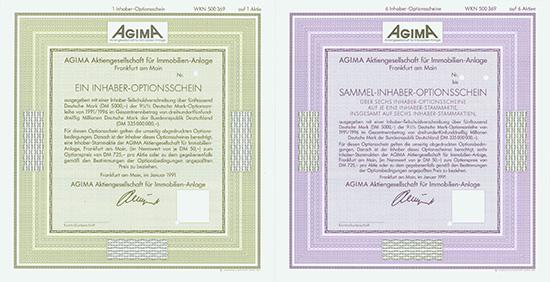 AGIMA Aktiengesellschaft für Immobilien-Anlage [3 Stück]