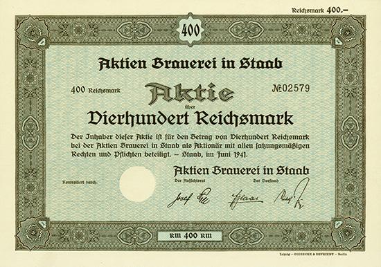 Aktien Brauerei in Staab