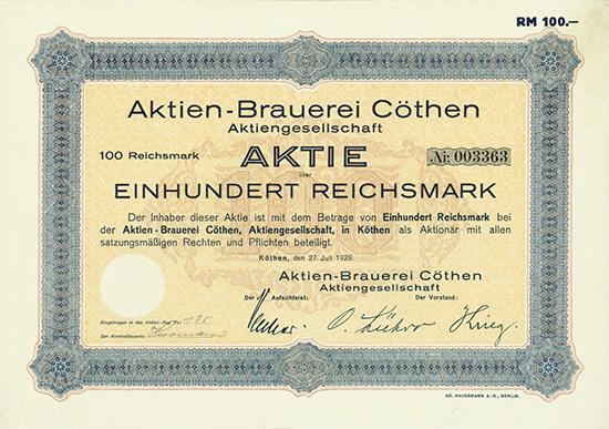 Aktien-Brauerei Cöthen AG