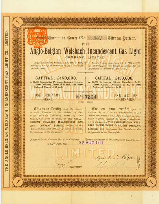 Anglo-Belgian Welsbach Incandescent Gas Light Company, Limited