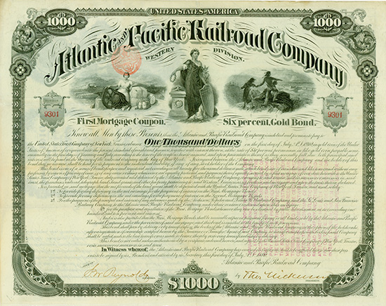 Atlantic and Pacific Railroad Company - Western Division
