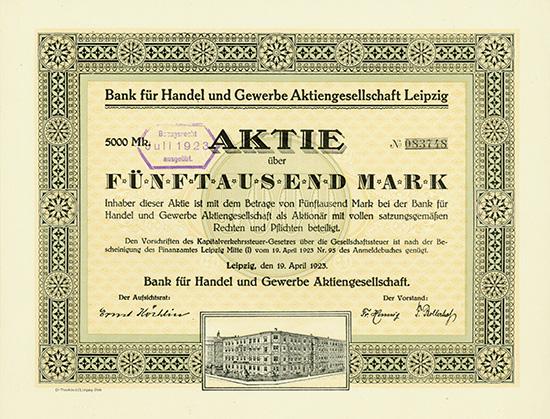 Bank für Handel und Gewerbe AG