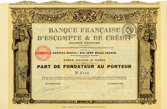 Banque Francaise d'Escompte & de Credit S.A.
