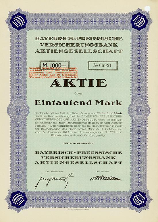 Bayerisch-Preussische Versicherungsbank AG