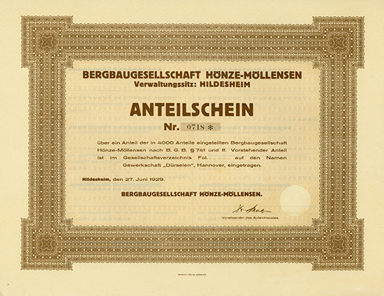 Bergbaugesellschaft Hönze-Möllensen