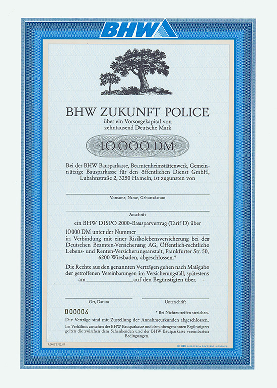 BHW Bausparkasse, Beamtenheimstättenwerk, Gemeinnützige Bausparkasse für den öffentlichen Dienst GmbH