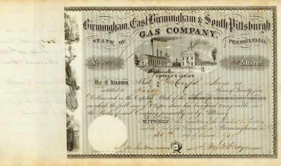 Birmingham, East Birmingham & South Pittsburgh Gas Company