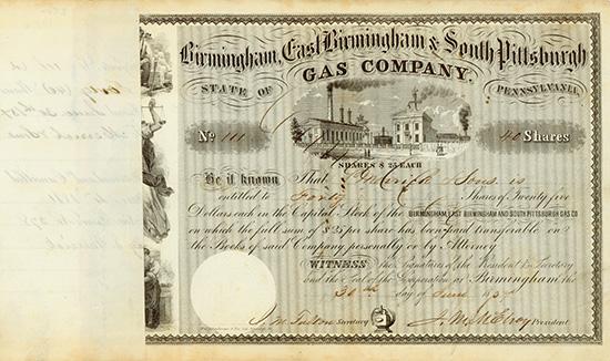 Birmingham, East Birmingham & South Pittsburgh Gas Company