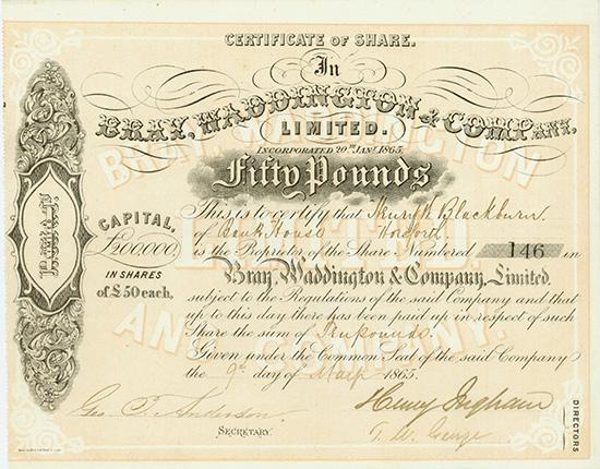Bray, Waddington & Company, Limited