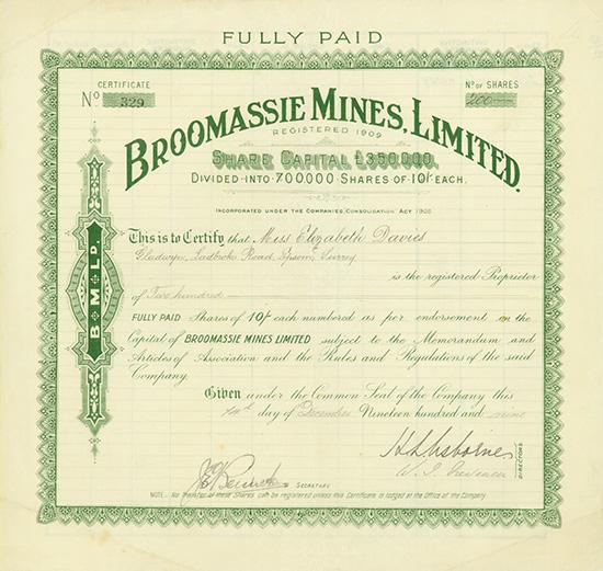 Broomassie Mines, Limited